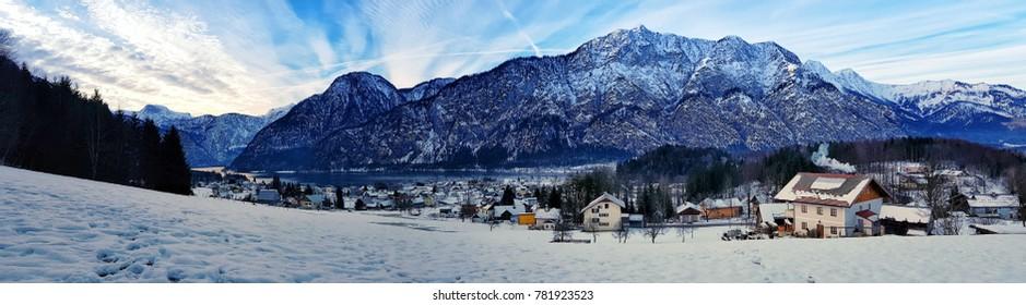Panorama of Lake in Hallstatt