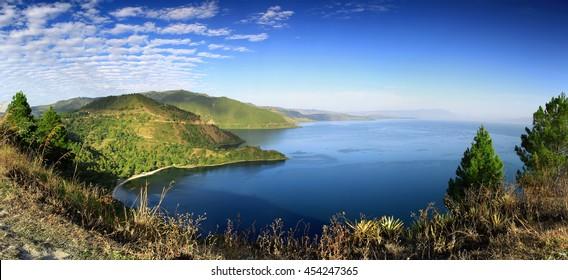 Panorama Lake Toba,North sumatra Indonesia