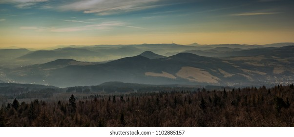 Panorama landscape od Czech mountains