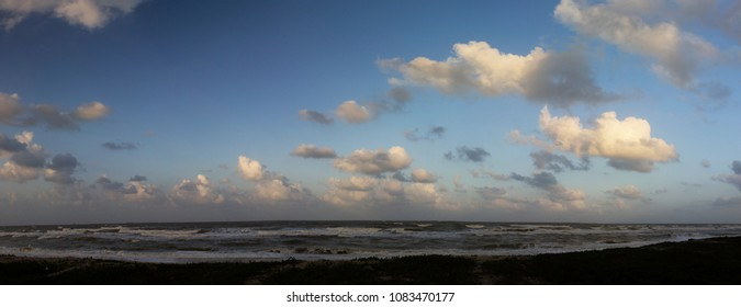 Panorama landscape, sky and sea in the daytime