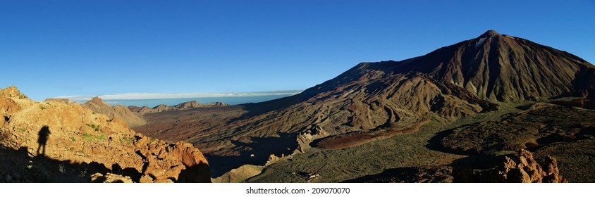 Panorama of Las Canadas and mount Teide, Tenerife