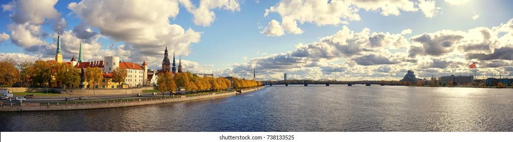 Panorama of Latvian capital Riga