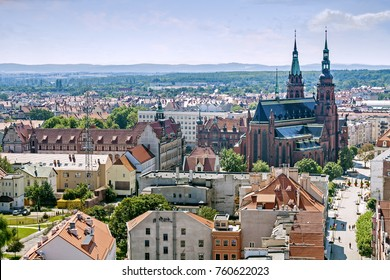 Panorama of Legnica, Lower Silesia, Poland