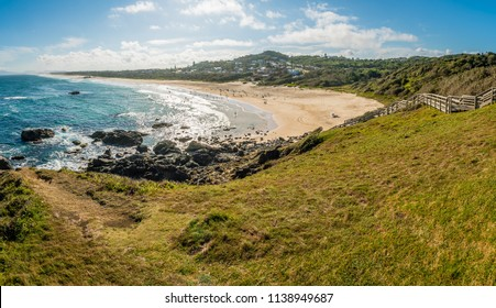 Panorama of Lighthouse beach in Port Macquarie in the summer