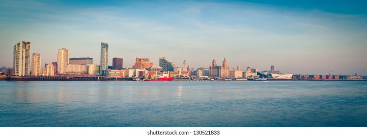 Panorama of Liverpool by day
