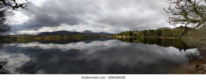 Panorama of Loch Rannoch, Scotland, on a quiet morning