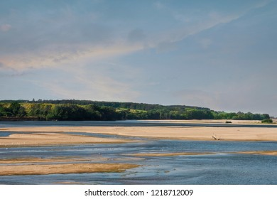 Panorama of Loire river and countryside in summer