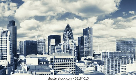 Panorama of the London financial district