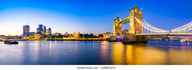 Panorama of London Tower bridge | England