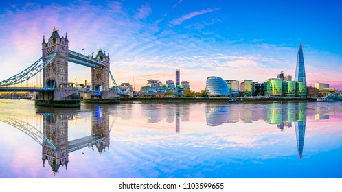 Panorama of London Tower bridge | England