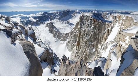 panorama looking south and down from near the summit of Mount Whitney the highest peak in the contiguous United States