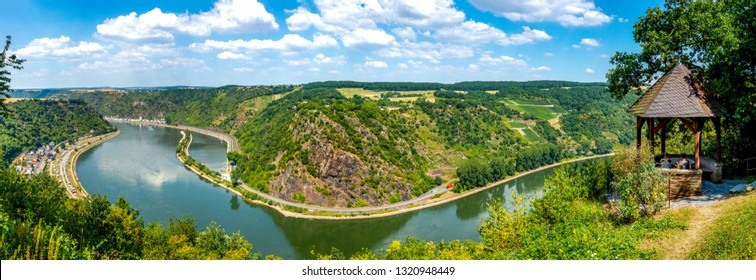 Panorama of Loreley in Urbar, Germany