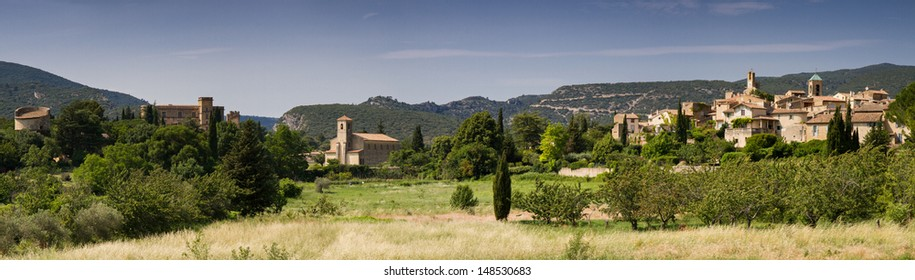 Panorama of Lourmarin, Provence, France