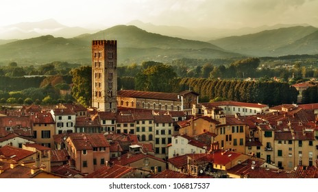 Panorama of Lucca, Tuscany, Italy