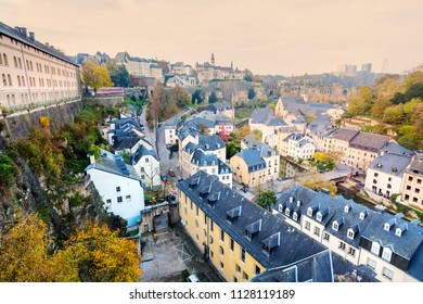 Panorama of Luxembourg City. Luxembourg City, Luxembourg.
