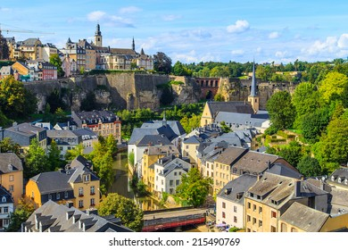 A panorama of Luxembourg old town
