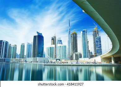 Panorama of the luxury center of Dubai,Dubai,United Arab Emirates