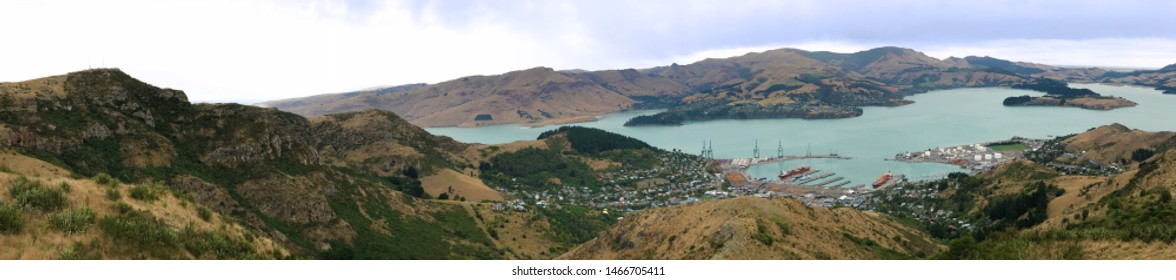 A Panorama of Lyttelton near Christchurch, New Zealand