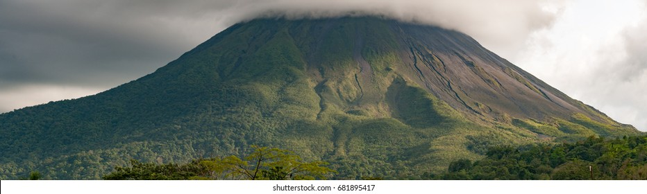 Panorama of the Majestic Arenal Volcano in Costa Rica