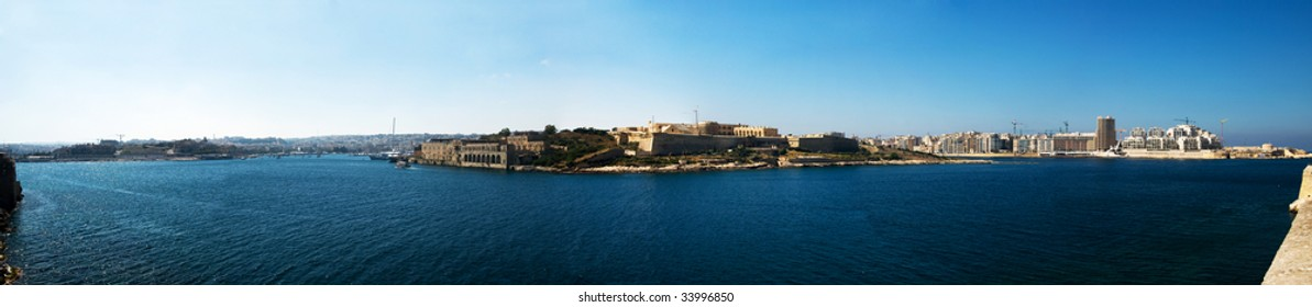 Panorama of Malta's Main harbor