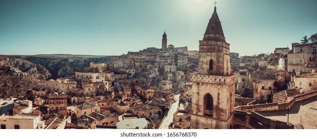 Panorama of Matera inside the city - Puglia - Italy