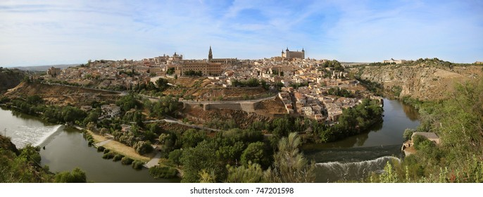 Panorama of the medieval city of Toledo. A UNESCO world heritage site in Spain