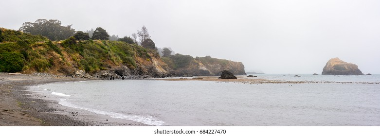 Panorama of the Mendocino Coast at Van Damme State Park, A California State Park.