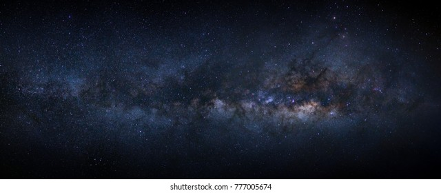 Panorama milky way galaxy with stars and space dust in the universe - Shutterstock ID 777005674