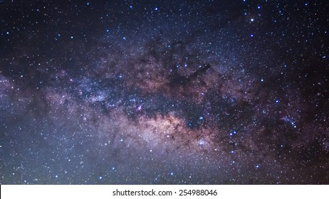 The Panorama Milky Way ,Long exposure photograph.