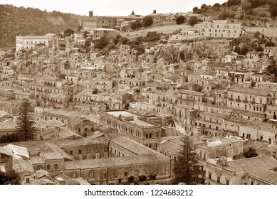 panorama of modica Sicily Italy