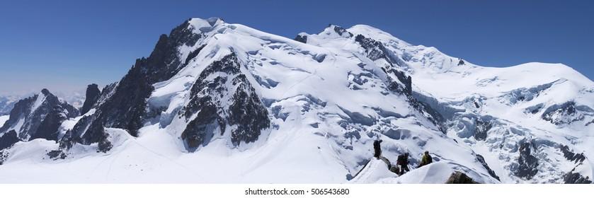 Panorama of Mont-Blanc, close