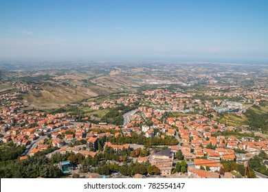 The panorama of the Montefeltro Hills seen from San Marino