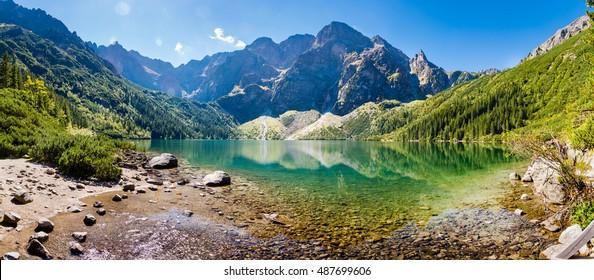 Panorama of Morskie Oko - Shutterstock ID 487699606