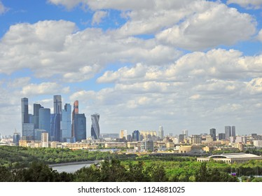 Panorama of Moscow and Moscow-city district