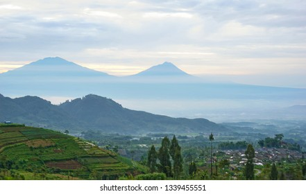 panorama of Mount Merapi in Central Java