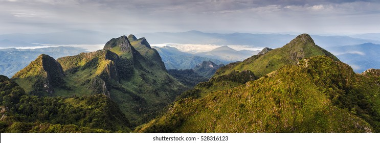 Panorama of the mountain in Chiang Mai Province, Thailand