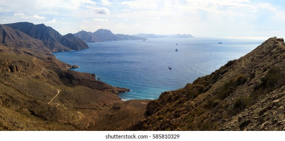 Panorama Mountain Mediterranean Sea Spain
