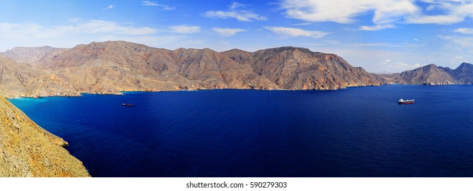 Panorama Mountain Mediterranean Sea Spain boats