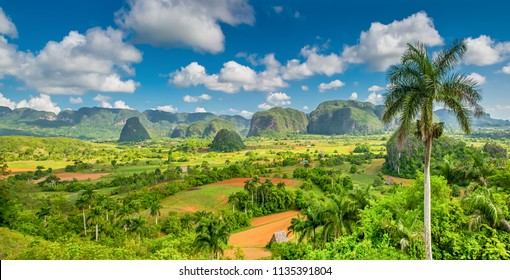 Panorama of Viñales mountains, Cuba