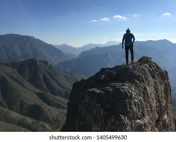 Panorama of Mountains in Mexico and Friend with Man-Bun