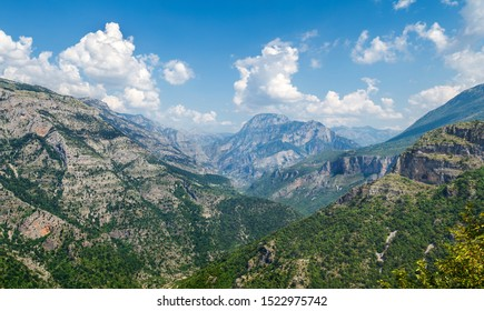 panorama of mountains Prokletije in Albania in summer