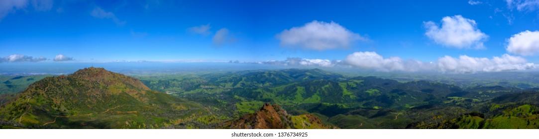 Panorama at Mt Diablo