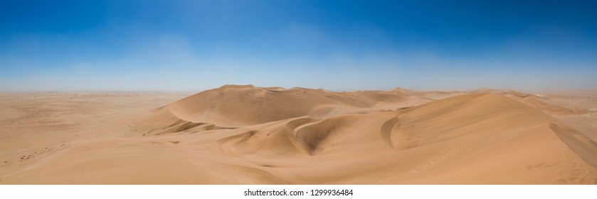 panorama of a Namibian dune