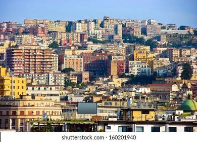 Panorama of Naples, Italy