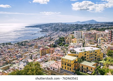 Panorama of Naples, Italy