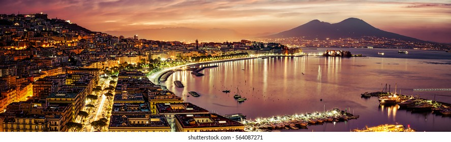 A panorama of Naples, Italy from October 2013.