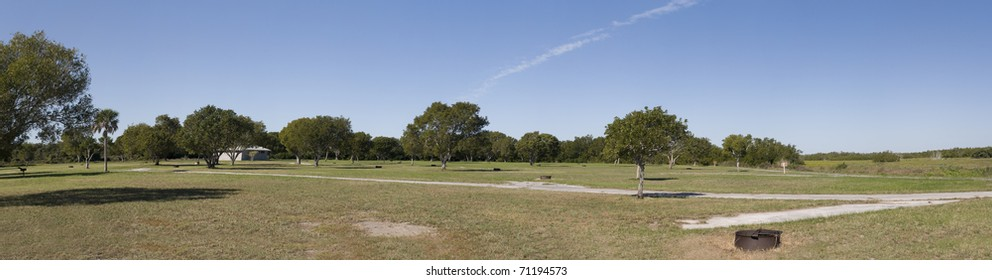 Panorama of National Park in Florida with Blue Sky.