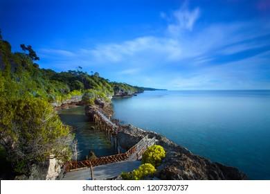Panorama of nature on the coast of Cape bira of South sulawesi, indonesia.