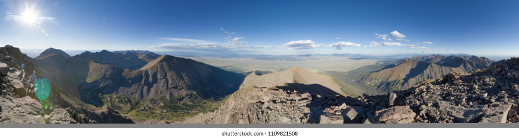 panorama from near the summit of Humboldt Peak in the Sangre De Cristo Range of Colorado