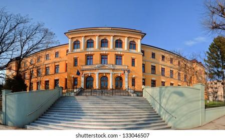 Panorama of Negruzzi High school from Iasi, Romania